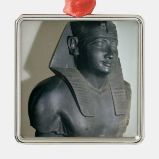 Fragment of an Egyptian style statue of Ptolemy I Silver-Colored Square Decoration