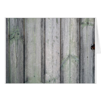Fragment of an old wooden fence greeting card