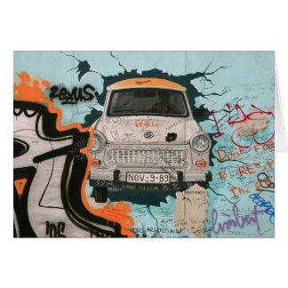 Fragment of Berlin wall Card