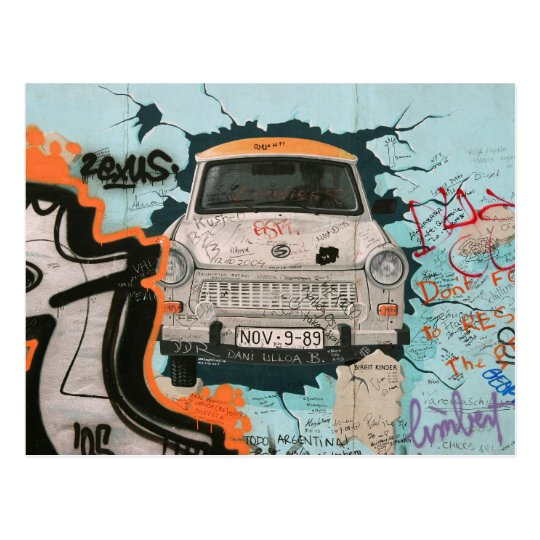 Fragment of Berlin wall Postcard