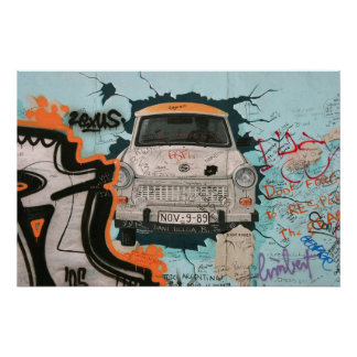 Fragment of Berlin wall Poster