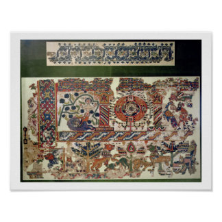 Fragment of textile depicting Jonah and the Whale Poster