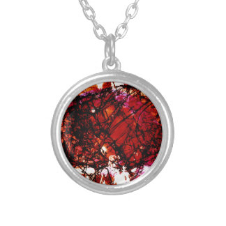 Fragmentalize - Red Monochrome Personalized Necklace