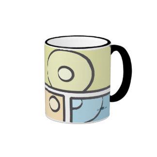 Fragmented Blue Ringer Mug
