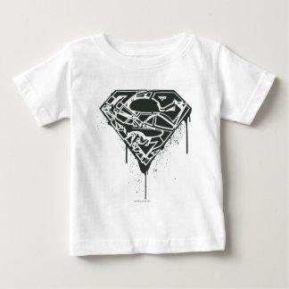 Fragmented Splatter Superman Logo T Shirt