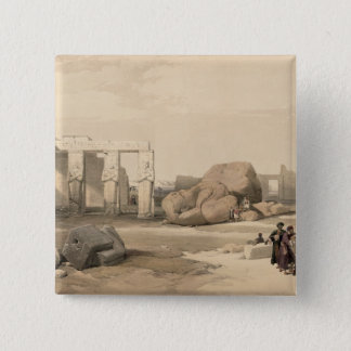 Fragments of the Great Colossus at The Memnonium, 15 Cm Square Badge