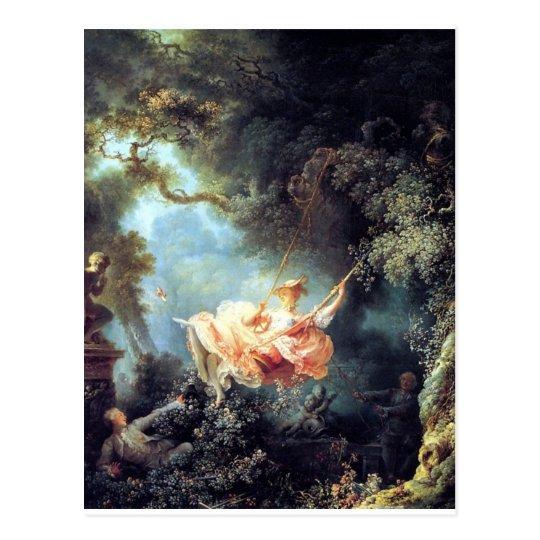Fragonard The Swing antique fine art painting Postcard