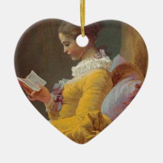 Fragonard's Young Girl Reading Christmas Ornament
