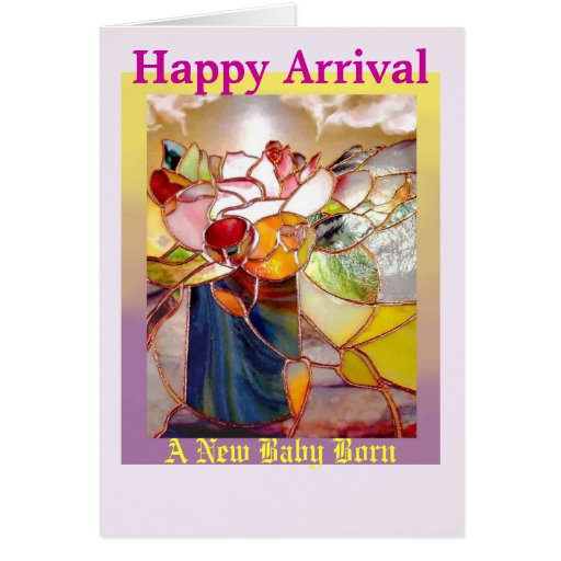 Fragrant Flower Happy Arrival Greeting Cards