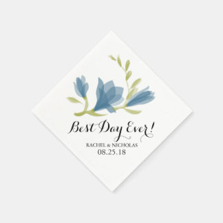 Fragrant Freesia Petals | Best Day Ever! Disposable Napkin