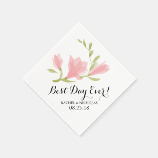 Fragrant Freesia Petals | Best Day Ever! Disposable Napkins