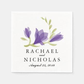 Fragrant Freesia Petals | Wedding Reception Disposable Napkin