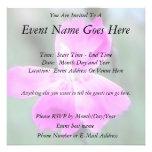 Fragrant Garden Pinks Custom Invite