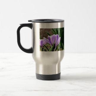 Fragrant Purple Crocus Flowers Coffee Mug