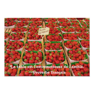 Fraises and Friendship Poster