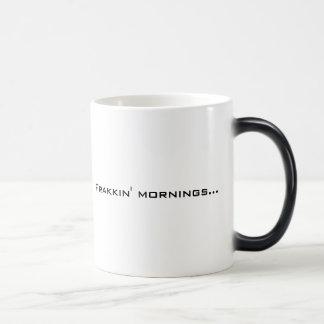 Frakkin Mornings mug Left-handed
