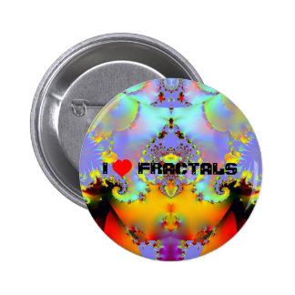 Fraktal009 - I LOVE FRACTALS 6 Cm Round Badge