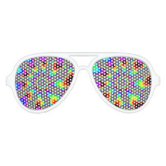 Fraktal-Rainbow Aviator Sunglasses