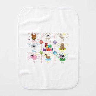 Fram Animals Burp Cloth