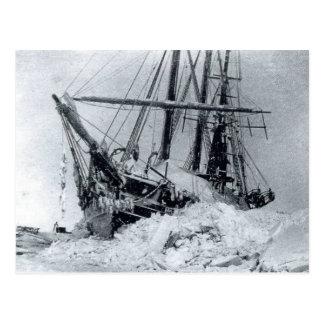 Fram, Nansen's ship, in polar ice Postcard