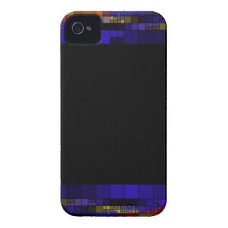 frame-417838 SQUARES RECTANGLES frame  dark color iPhone 4 Case