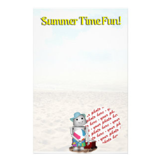 Frame at the Beach Personalized Stationery