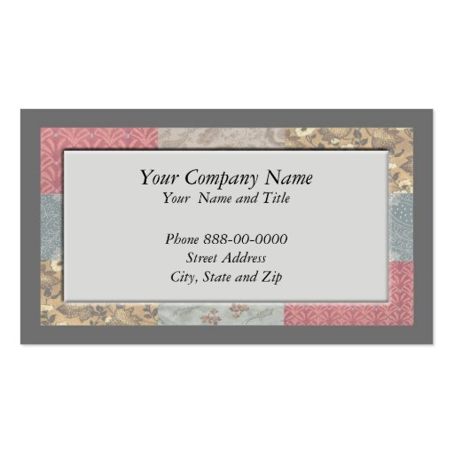 Frame border business card zazzle for Business card picture frame