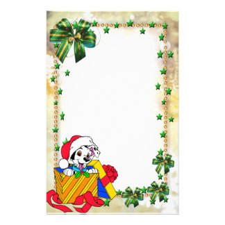 "Frame for photo ""Christmas present "" Stationery Paper"