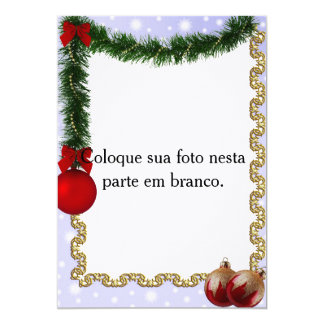 "Frame for photo ""Ornaments of Christmas "" 13 Cm X 18 Cm Invitation Card"