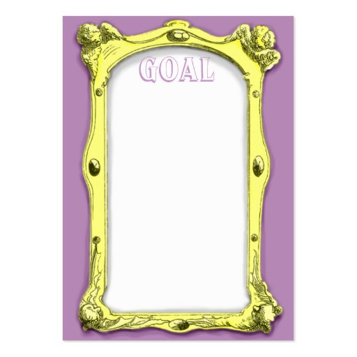 Frame Goal Card Business Card Template