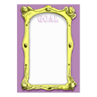 Frame Goal Card Pack Of Chubby Business Cards