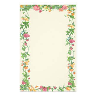 frame of roses personalized stationery