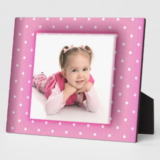 Frame Pink White Polka Dots Add Your Photo