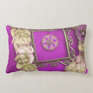 Frame Ribbons with Buttons Pillows