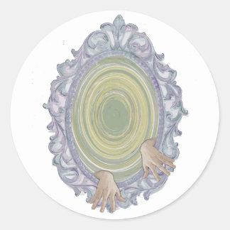 frame round sticker