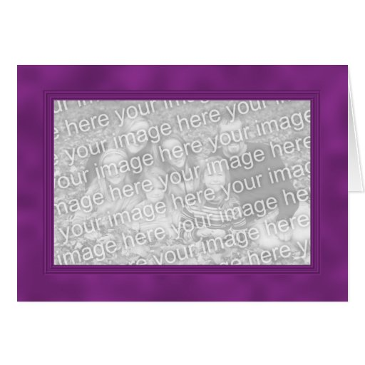 Frame Template Card - Dark Magenta Purple