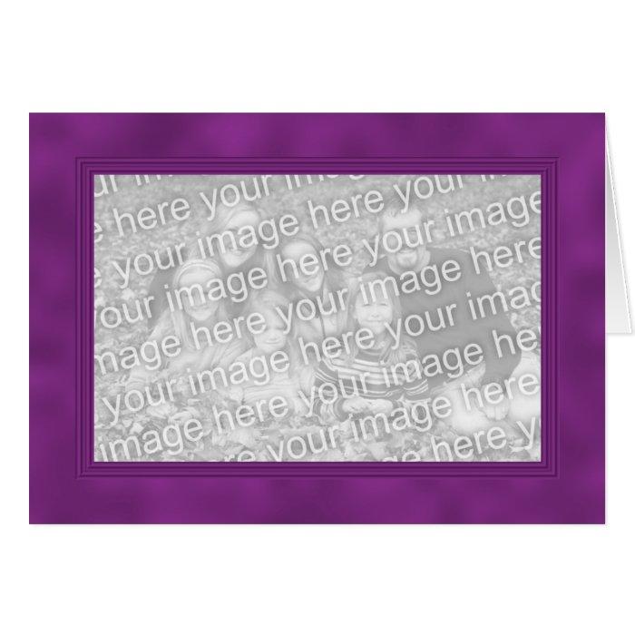 Frame Template Card - Dark Magenta Purple