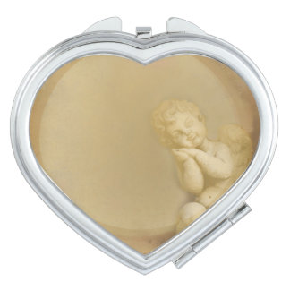 frame with angel compact mirror