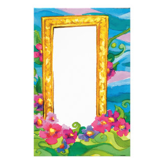 Frame with flowers - Stationery