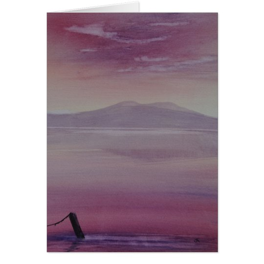 Frameable Original Art Greeting Card Magenta Dawn