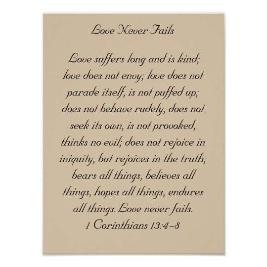 Framed Bible Verse Artwork, 1 Corinthians 13, Love