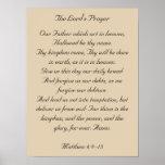 Framed Bible Verse Artwork, the Lord's Prayer