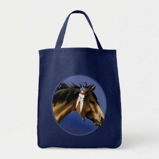 Framed Buckskin Horse Face Bag