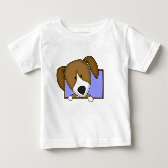 Framed Cartoon Beagle Baby T-Shirt