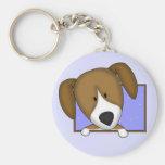 Framed Cartoon Beagle Keychain
