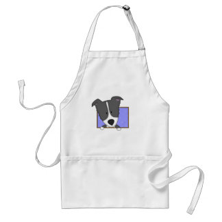Framed Cartoon Border Collie Standard Apron