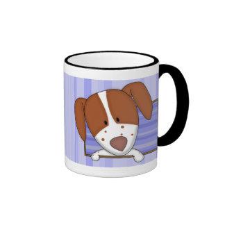 Framed Cartoon Brittany Spaniel Mug