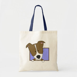 Framed Cartoon Brown Border Collie Bag
