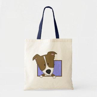 Framed Cartoon Brown Border Collie Bag