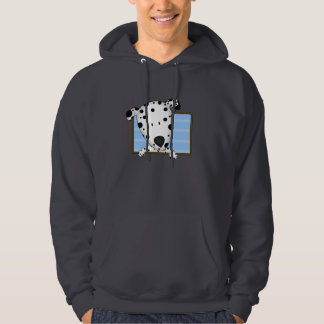 Framed Cartoon Dalmatian Hooded Sweatshirt